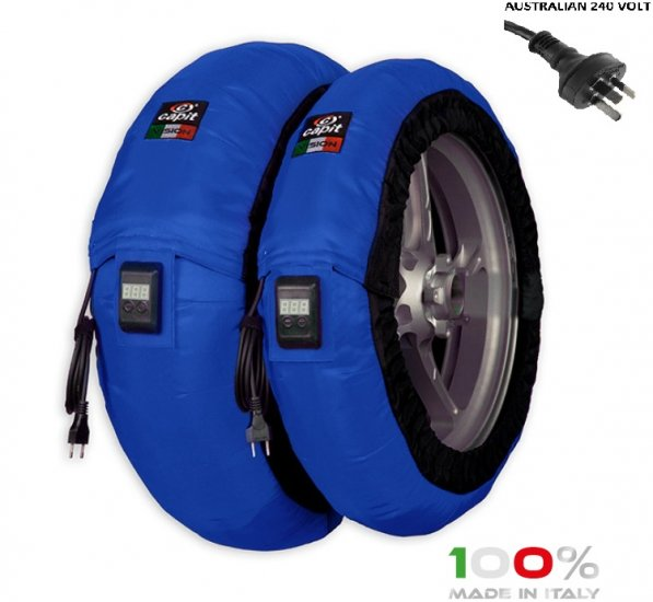 "CAPIT - BIKE MAXIMA VISION TYRE WARMERS M/XL ""BLUE"" - Click Image to Close"