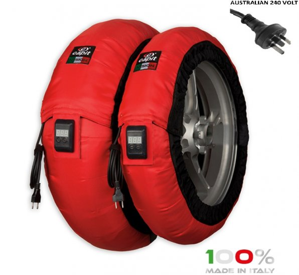 "CAPIT - BIKE MAXIMA VISION TYRE WARMERS M/XL ""RED"" - Click Image to Close"