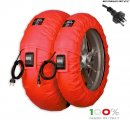 "CAPIT - BIKE SUPREMA VISION TYRE WARMERS M/XL ""RED"""